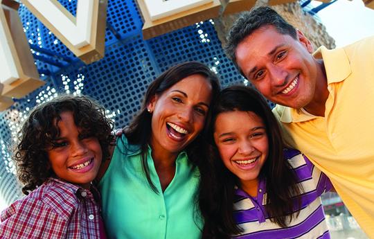 Family enjoying Orlando area theme parks near The Point Resort